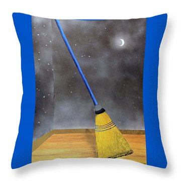 Cleaning Out The Universe Throw Pillow