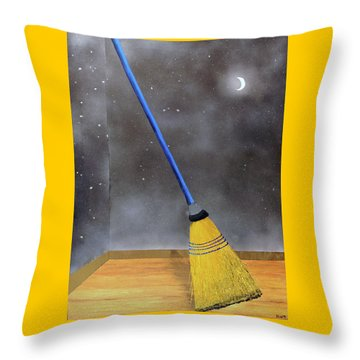 Cleaning Out The Universe Throw Pillow by Thomas Blood