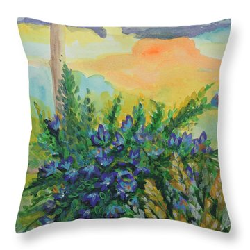 Throw Pillow featuring the painting Cleansed by Holly Carmichael
