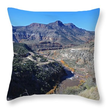 Clear And Rugged Throw Pillow