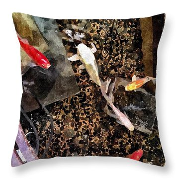 Clear As Koi Throw Pillow