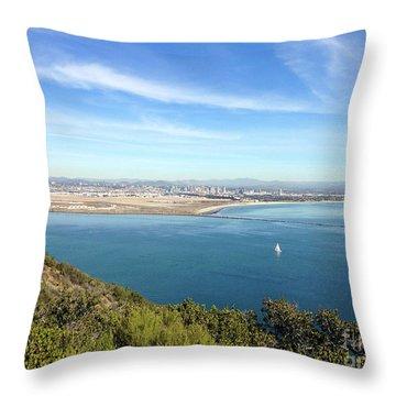 Clear Blue Sea Throw Pillow