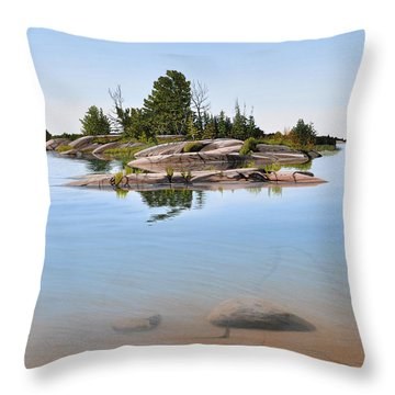 Clear Contentment Throw Pillow