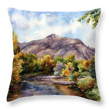Throw Pillow featuring the painting Clear Creek by Anne Gifford