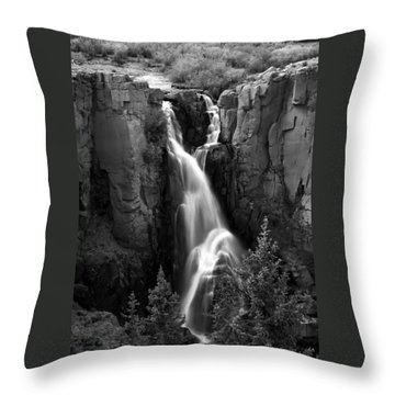 Clear Creek Falls Throw Pillow by Farol Tomson
