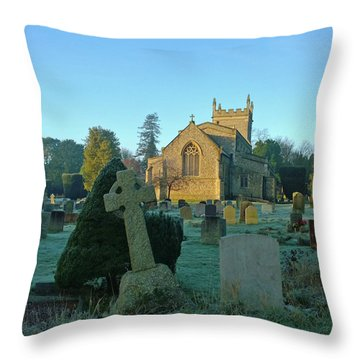 Clear Light In The Graveyard Throw Pillow