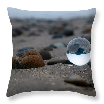 Throw Pillow featuring the photograph Clear Rock by Lora Lee Chapman