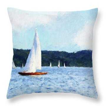 Clear Sailing Throw Pillow by Shirley Stalter