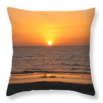 Clear Sunset Throw Pillow