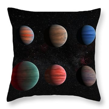 Clear To Cloudy Hot Jupiters Throw Pillow