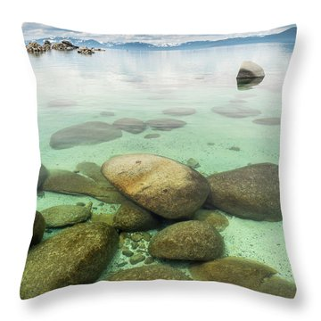 Clear Water, Stormy Sky Throw Pillow