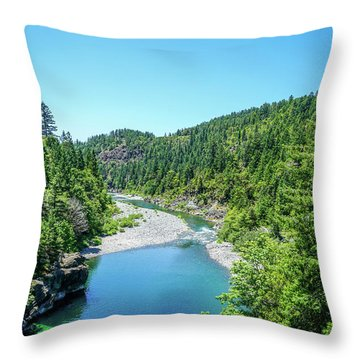 Clear Waters Throw Pillow by Ric Schafer