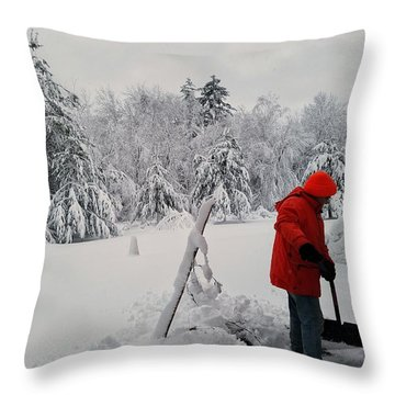 Clearing A Path Throw Pillow