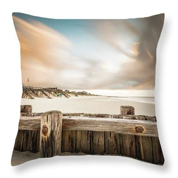 Clearing Out The Rain Throw Pillow