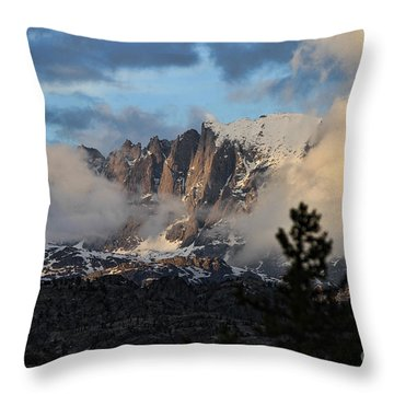 Clearing Rain Throw Pillow by Edward R Wisell