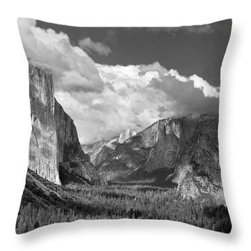 Clearing Skies Yosemite Valley Throw Pillow