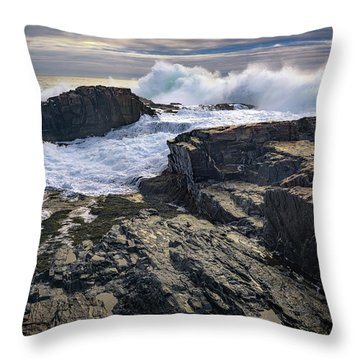 Clearing Storm At Bald Head Cliff Throw Pillow by Rick Berk
