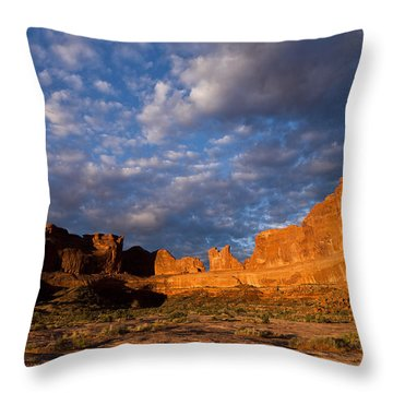 Clearing Storm At Sunrise Throw Pillow