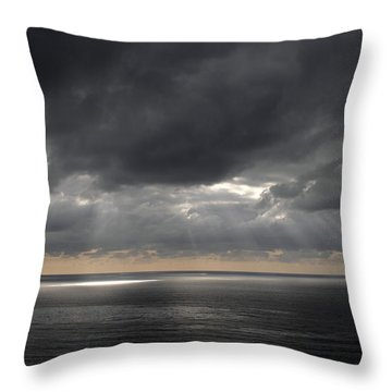 Clearing Storm Throw Pillow