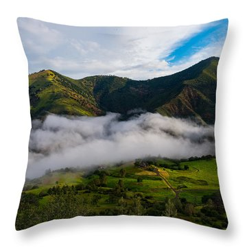 Clearing Storm, Figueroa Mountain Throw Pillow