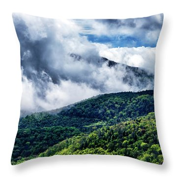 Throw Pillow featuring the photograph Clearing Storm Highland Scenic Highway by Thomas R Fletcher