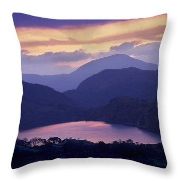 Clearing Storm Nant Gwynant Throw Pillow