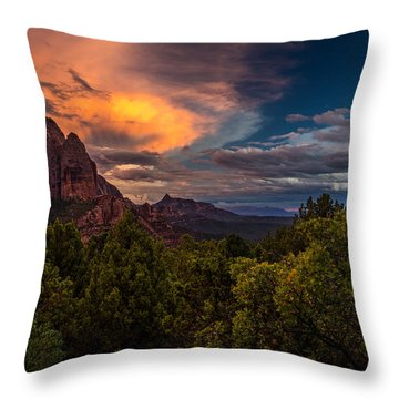 Clearing Storm Over Zion National Park Throw Pillow