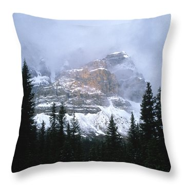 Clearing Storm Throw Pillow by Sandra Bronstein