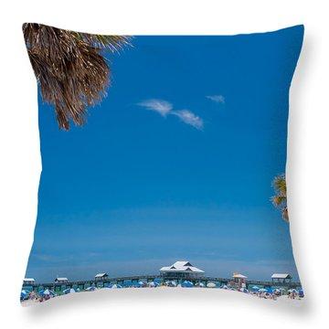 Clearwater Beach Throw Pillow by Adam Romanowicz