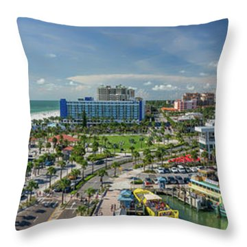 Throw Pillow featuring the photograph Clearwater Beach Florida by Steven Sparks