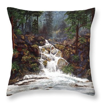 Clearwater Falls Throw Pillow