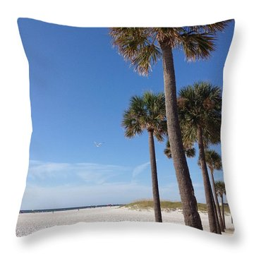 Clearwater Palms Throw Pillow