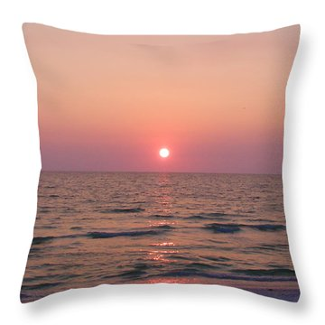 Clearwater Sunset Throw Pillow by Bill Cannon