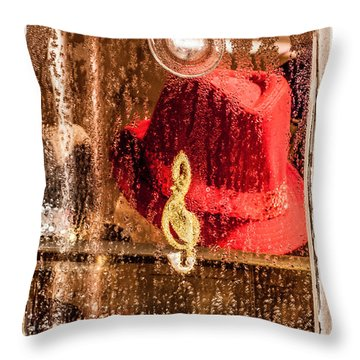 Clef And Hat Throw Pillow