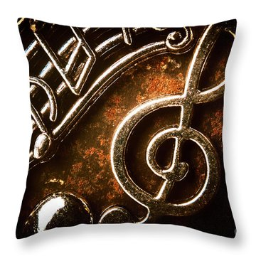Clef Concert Throw Pillow