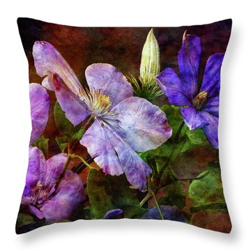 Clematis 1330 Idp_2 Throw Pillow