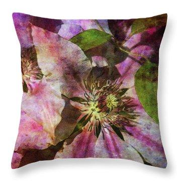 Clematis 9569 Idp_2 Throw Pillow
