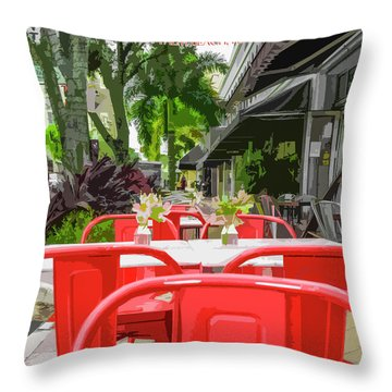 Clematis By Day Throw Pillow