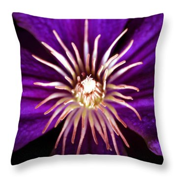 Clematis Crown Throw Pillow
