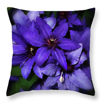 Throw Pillow featuring the photograph Clematis by Elaine Manley