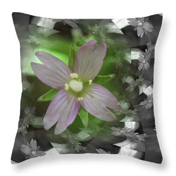Clematis Throw Pillow by Keith Elliott