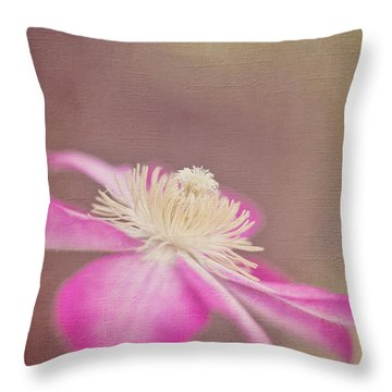 Clematis Throw Pillow by Laurinda Bowling