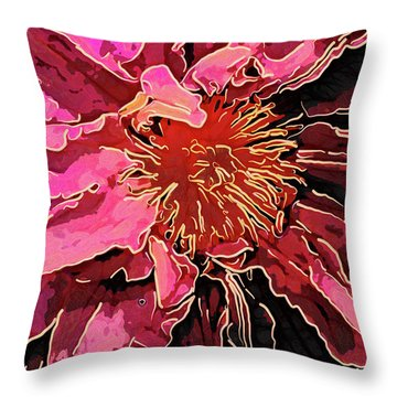 Clematis Up Close And Personal Throw Pillow