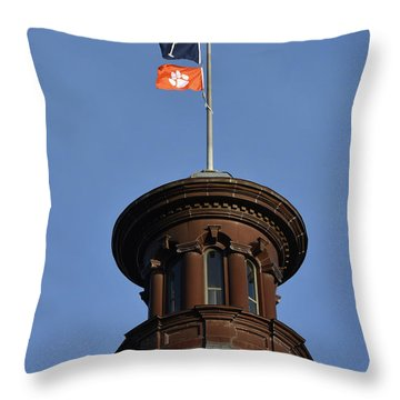 Clemson Flag At State House Throw Pillow