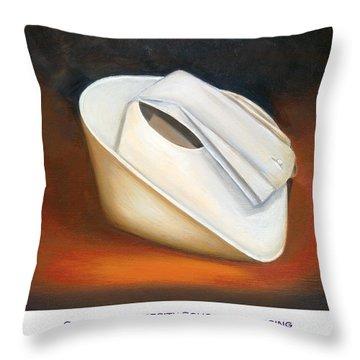 Clemson University School Of Nursing Throw Pillow by Marlyn Boyd