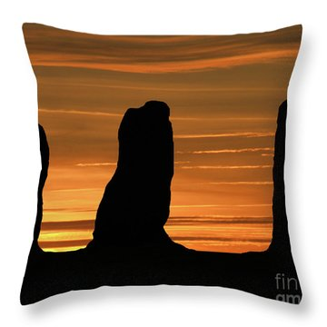 Clent Hills Sunset Throw Pillow