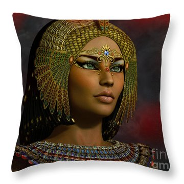 Throw Pillow featuring the digital art Cleopatra 2 E  by Shadowlea Is