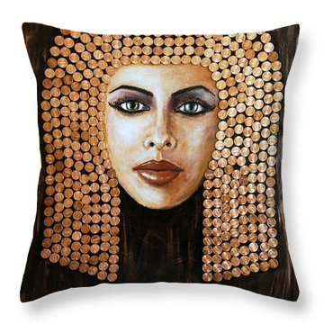Cleopatra Throw Pillow by Arturas Slapsys