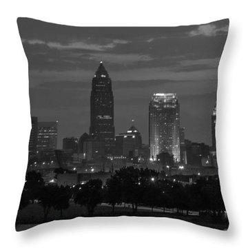 Cleveland After Dark Throw Pillow