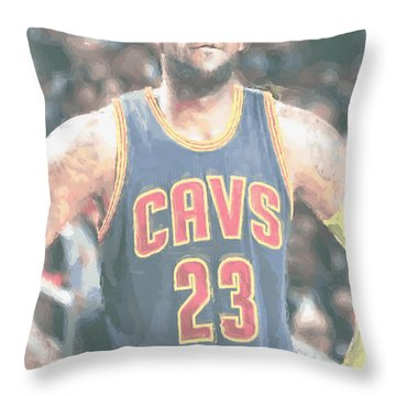 Cleveland Cavaliers Lebron James 5 Throw Pillow
